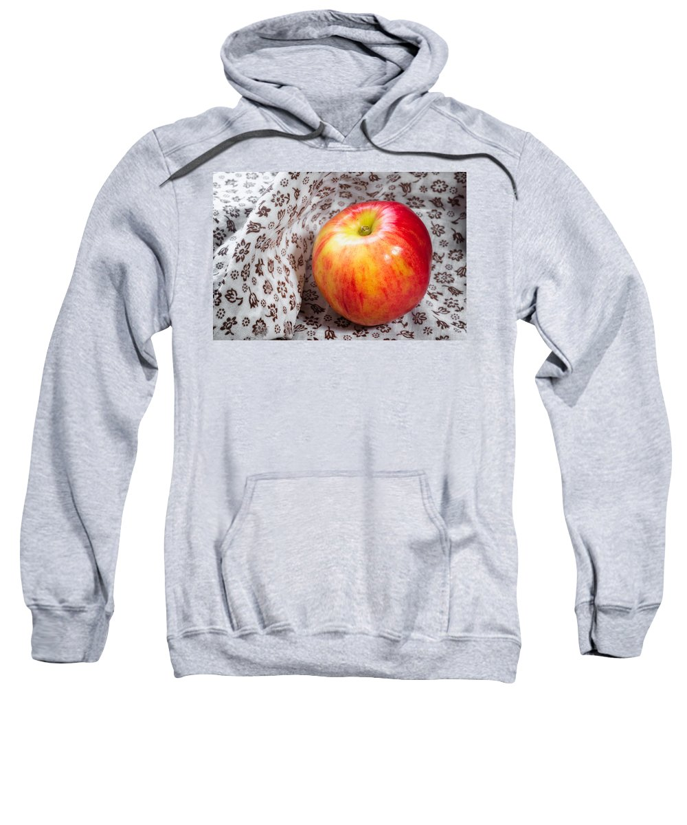 Agriculture Sweatshirt featuring the photograph Red And Yellow Apple by Alain De Maximy