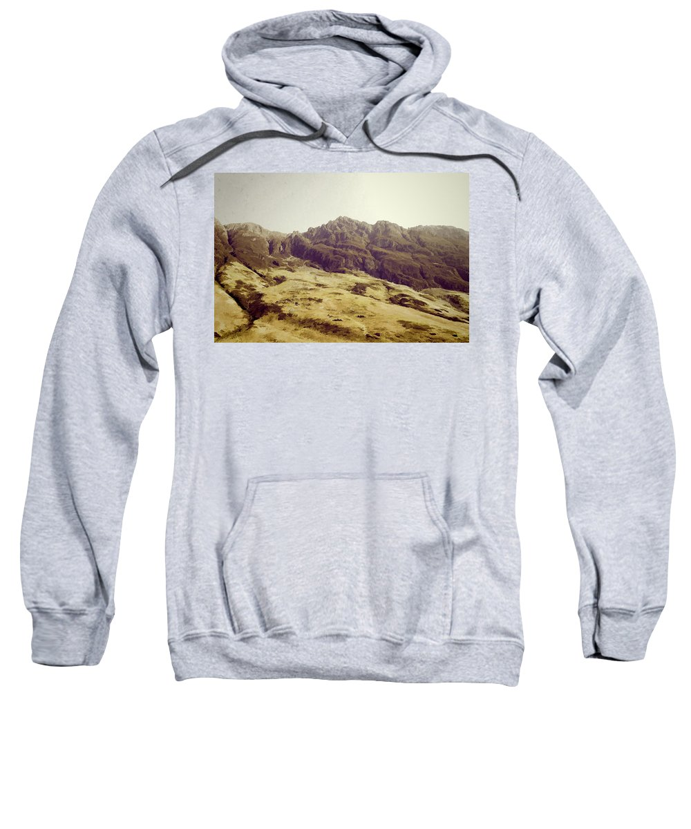 Blue Sky Sweatshirt featuring the photograph Slope Of Hills In The Scottish Highlands by Ashish Agarwal