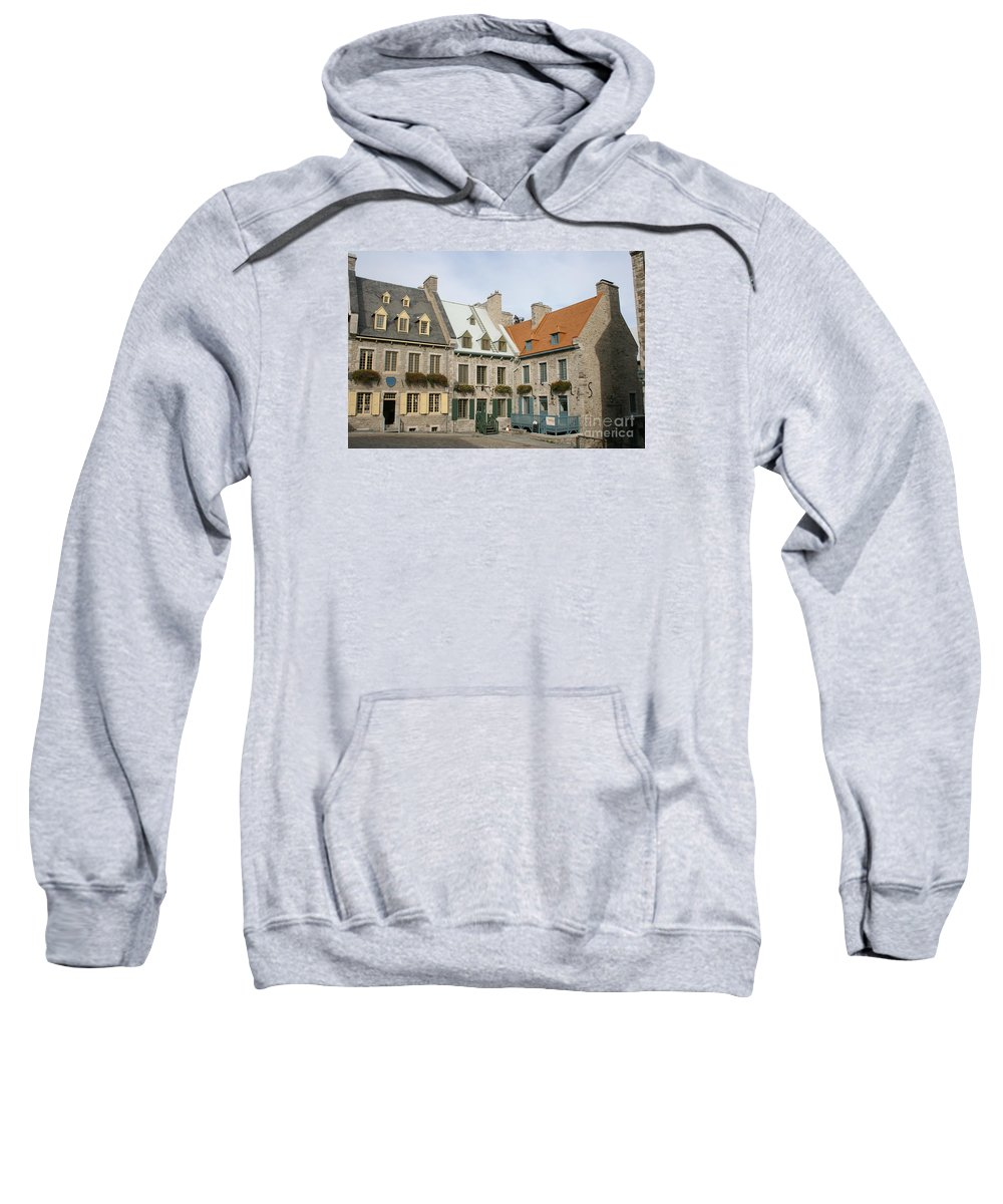 Old Town Sweatshirt featuring the photograph Old Town Quebec - Canada by Christiane Schulze Art And Photography