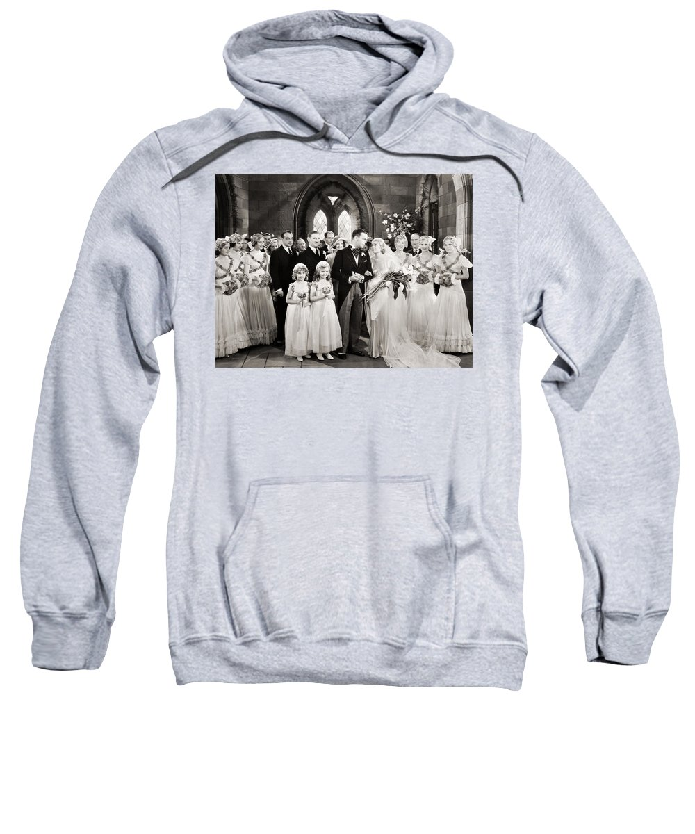 1920s Sweatshirt featuring the photograph Silent Film Still: Wedding by Granger