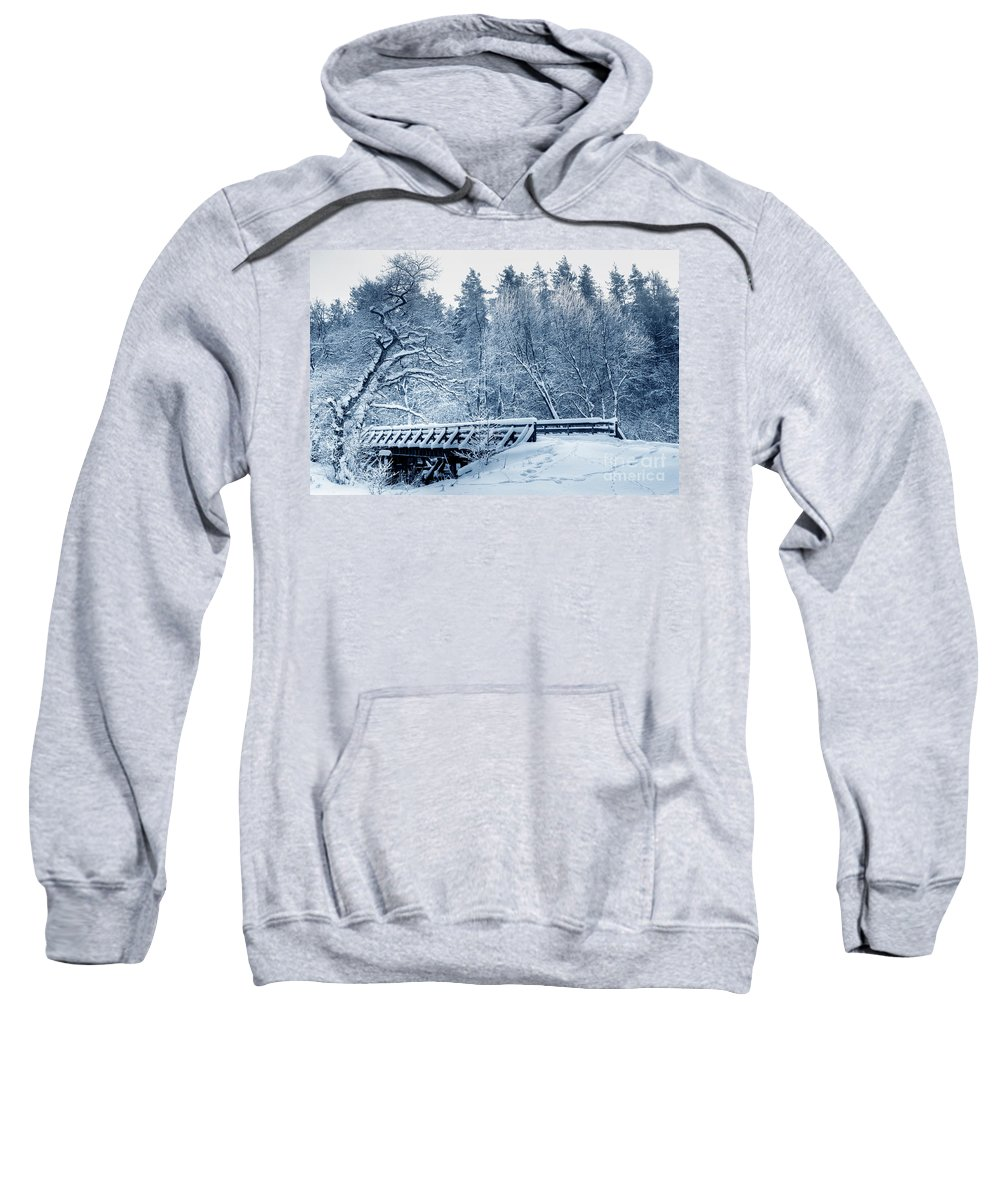 Snow Sweatshirt featuring the photograph Winter White Forest by Michal Bednarek