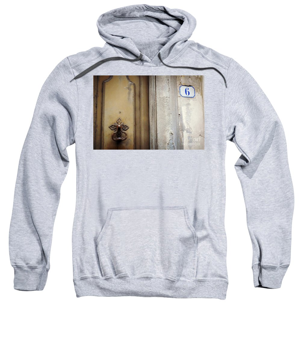 Six Sweatshirt featuring the photograph 6 With Doorknocker by Valerie Reeves