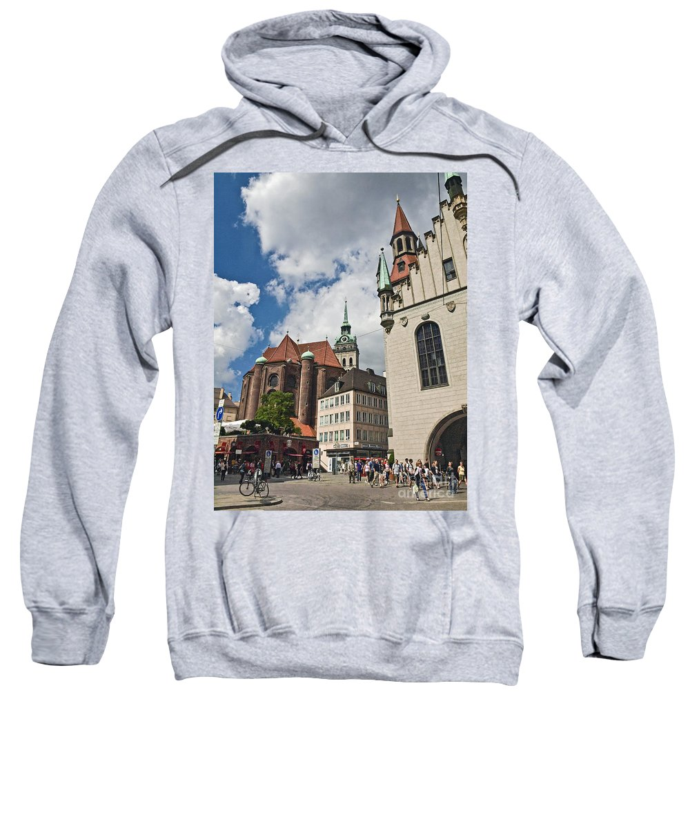 Munich Sweatshirt featuring the photograph Munich Germany by Howard Stapleton