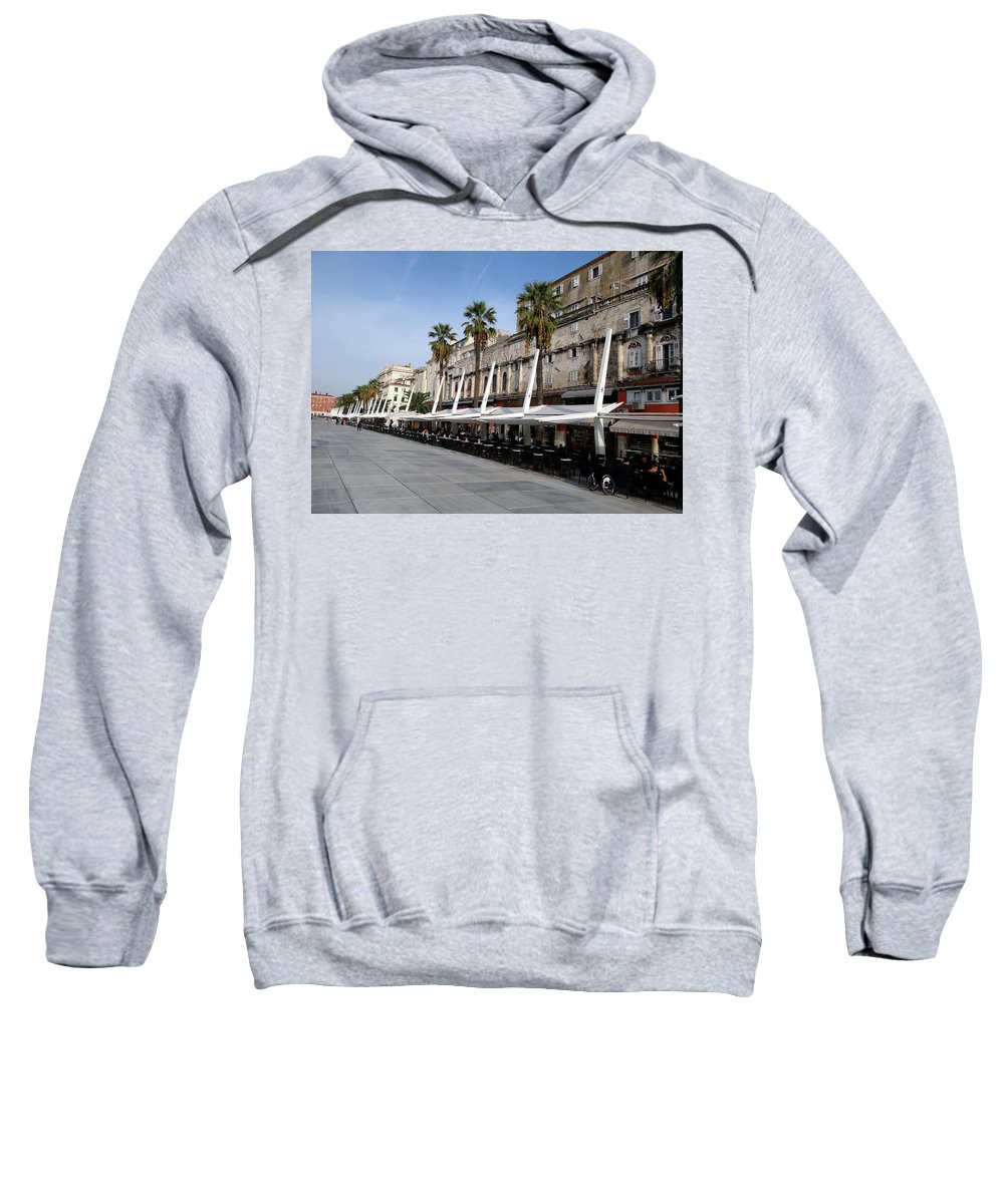 Mediterranean Sweatshirt featuring the photograph Views Of Split Croatia by Richard Rosenshein