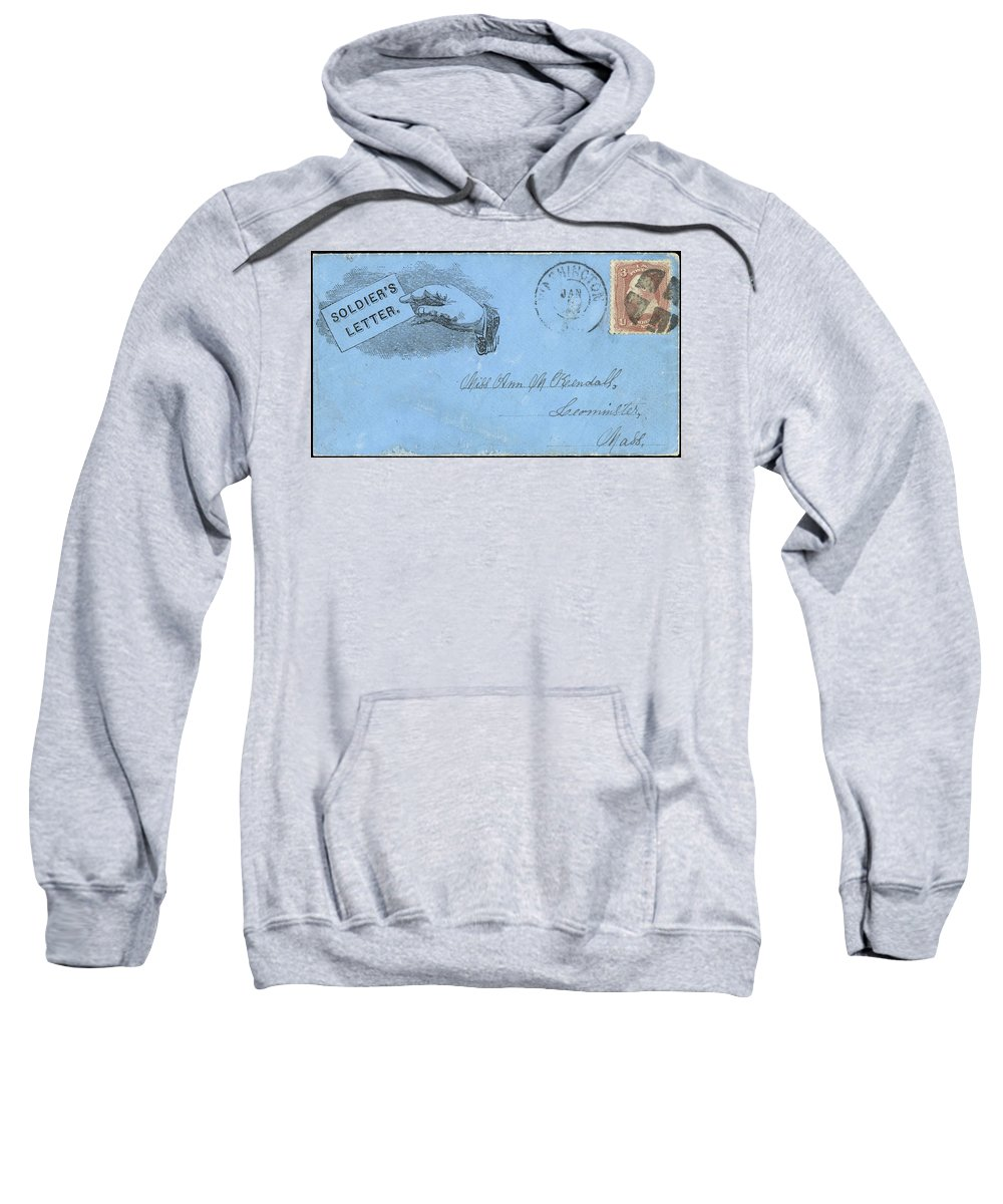 1863 Sweatshirt featuring the painting Civil War Letter, C1863 by Granger