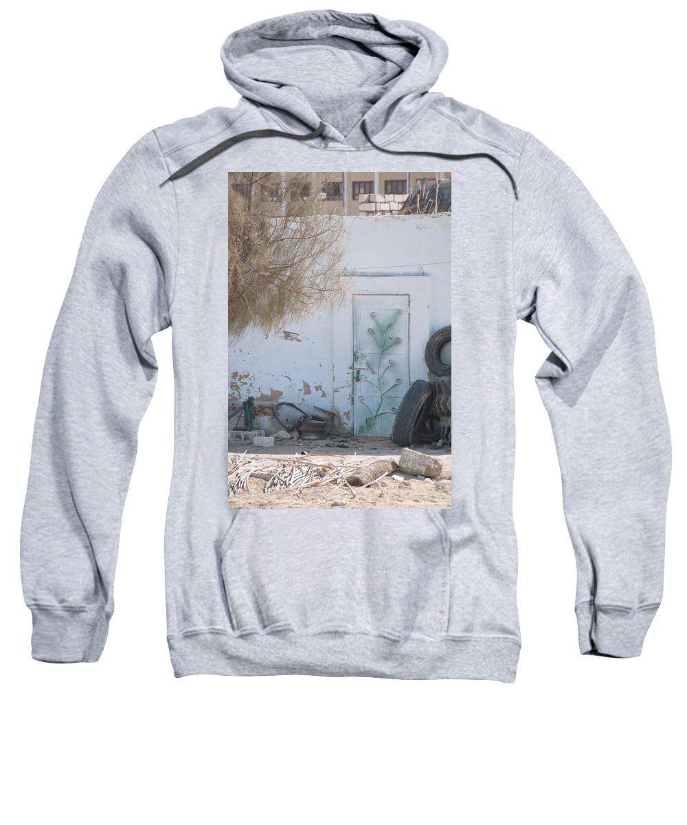 El Farafar Oasis Sweatshirt featuring the digital art El Farafar Oasis by Carol Ailles