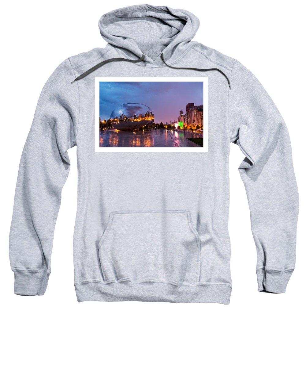 The Bean Sweatshirt featuring the photograph Cloud Gate by Patrick Warneka