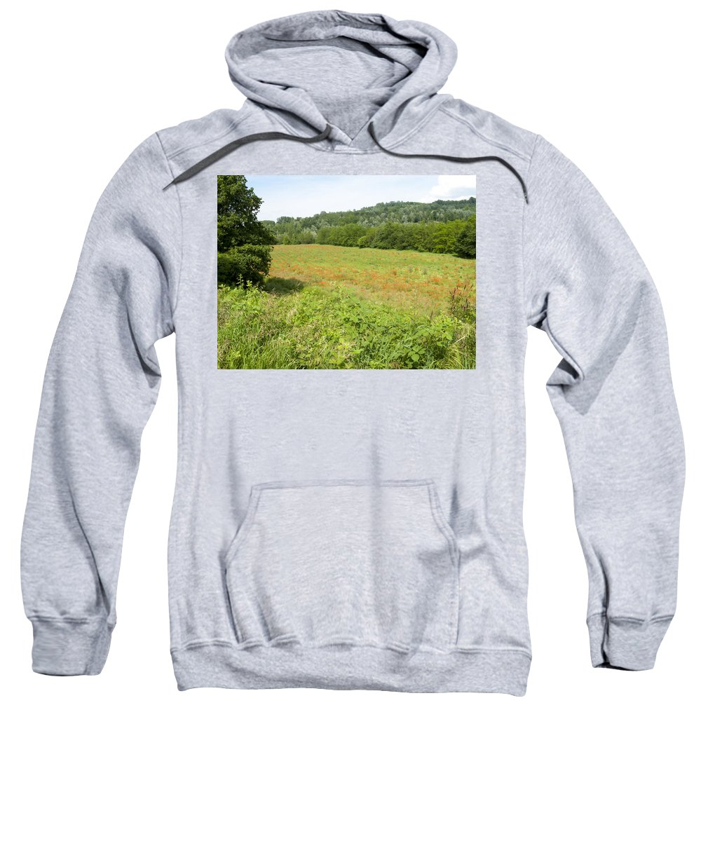 Blades Sweatshirt featuring the photograph Poppy Field by Stefania Levi