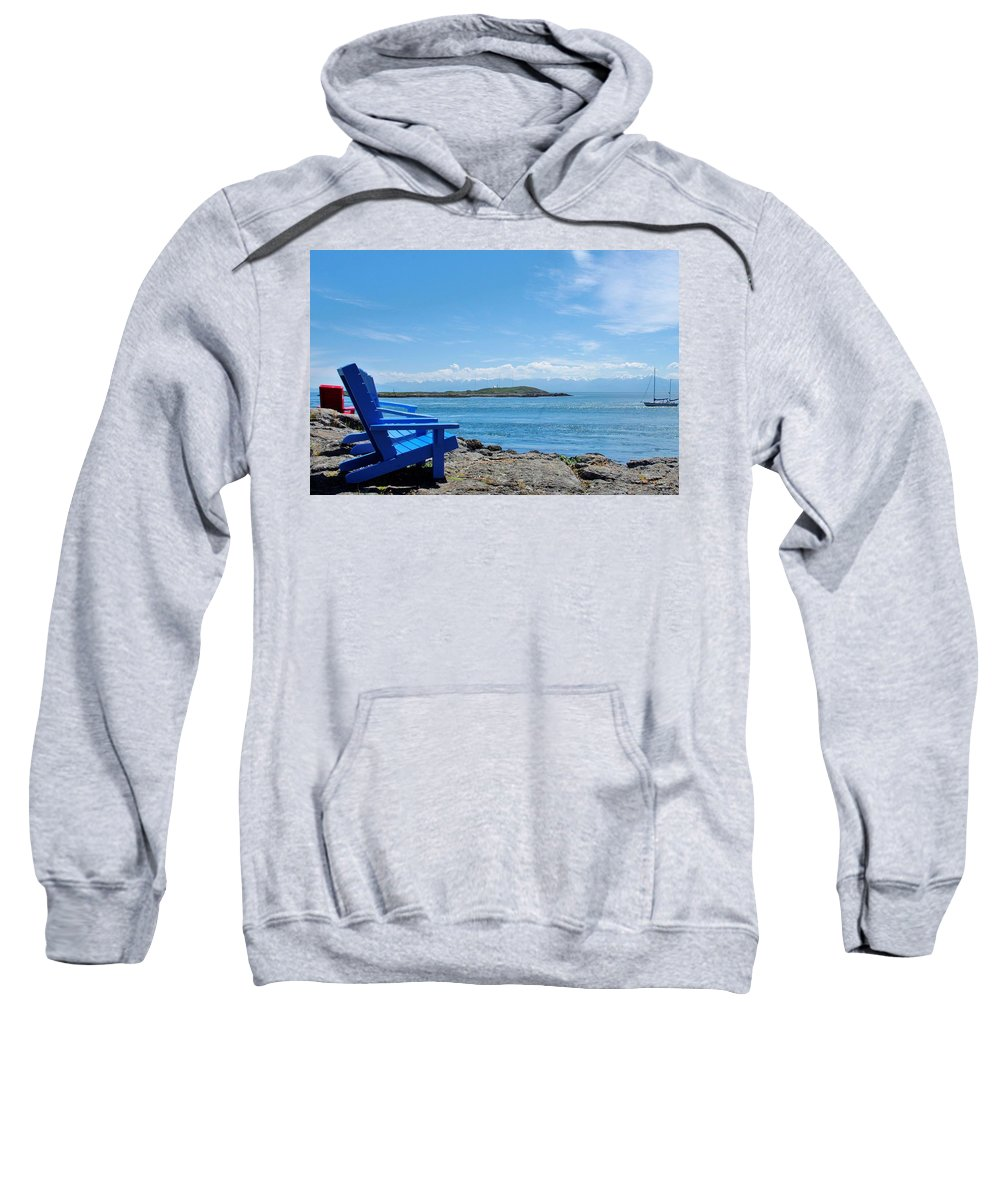 Beach Sweatshirt featuring the photograph A Beach Chair Afternoon by John Greaves