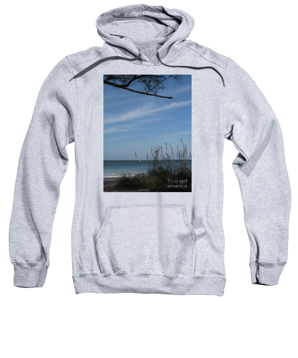 Beach Sweatshirt featuring the photograph A Beautiful Day At A Florida Beach by Christiane Schulze Art And Photography