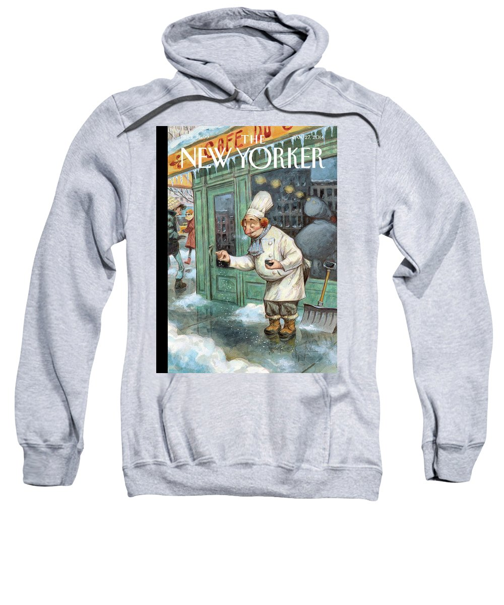 Cooking Sweatshirt featuring the painting Just A Pinch by Peter de Seve
