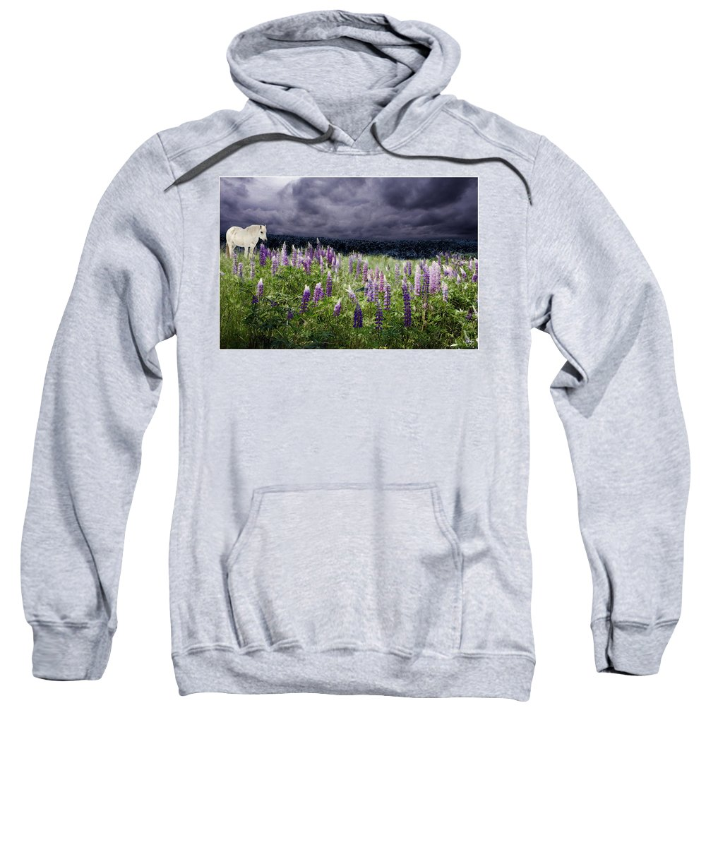 Lupinefest Sweatshirt featuring the photograph A Childs Dream Among Lupine by Wayne King