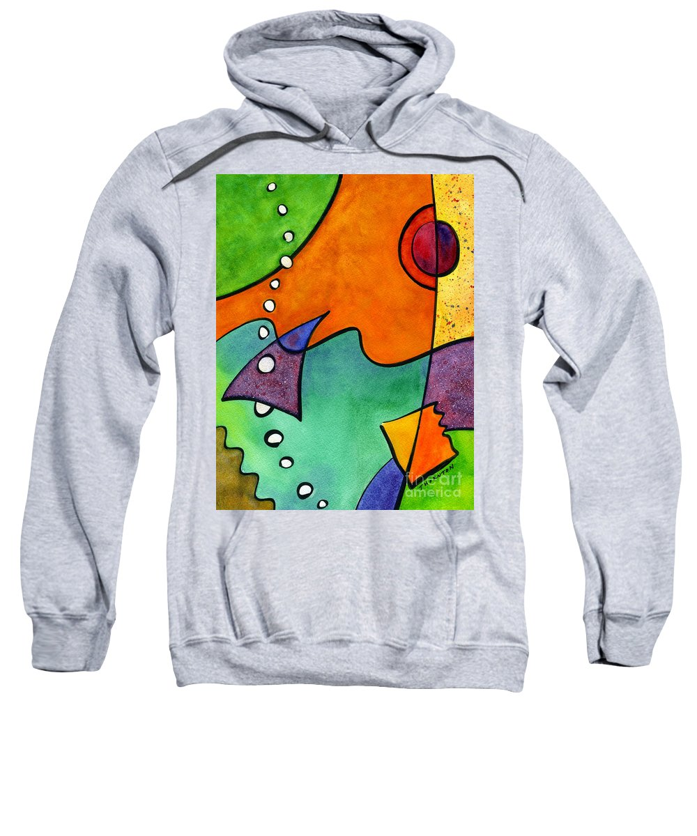 Beach Sweatshirt featuring the painting A Day At The Beach by Diane Thornton