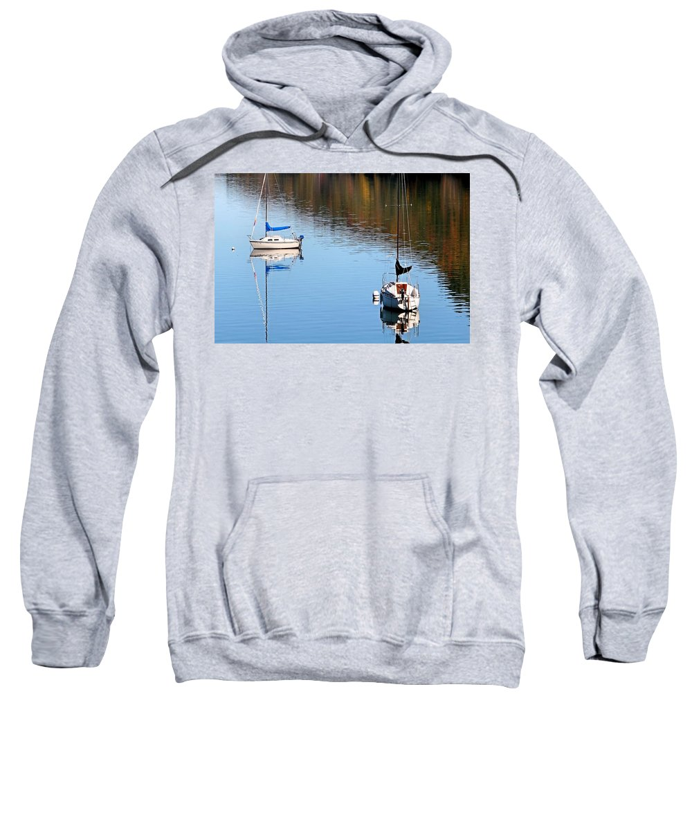 New York Sweatshirt featuring the photograph A Day At The Lake by DJ Florek