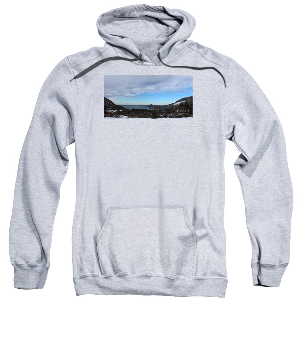 Barbara Griffin Sweatshirt featuring the photograph A Fine January Day On The Bay by Barbara Griffin
