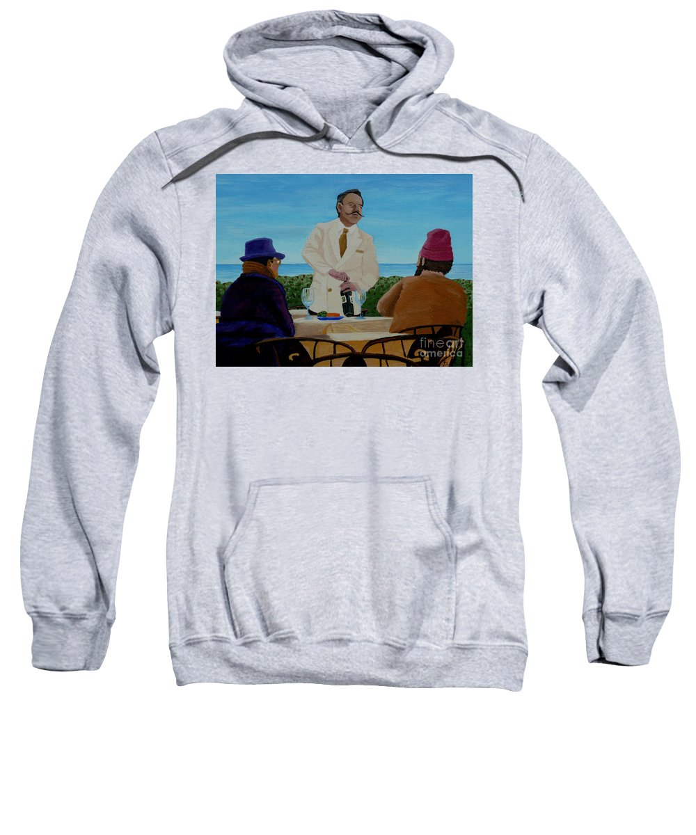 Wine Sweatshirt featuring the painting A Fresh Bottle by Anthony Dunphy