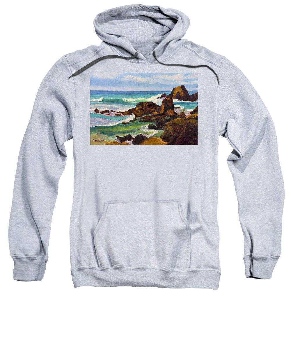 Frouxeira Sweatshirt featuring the painting A Frouxeira Galicia by Pablo Avanzini