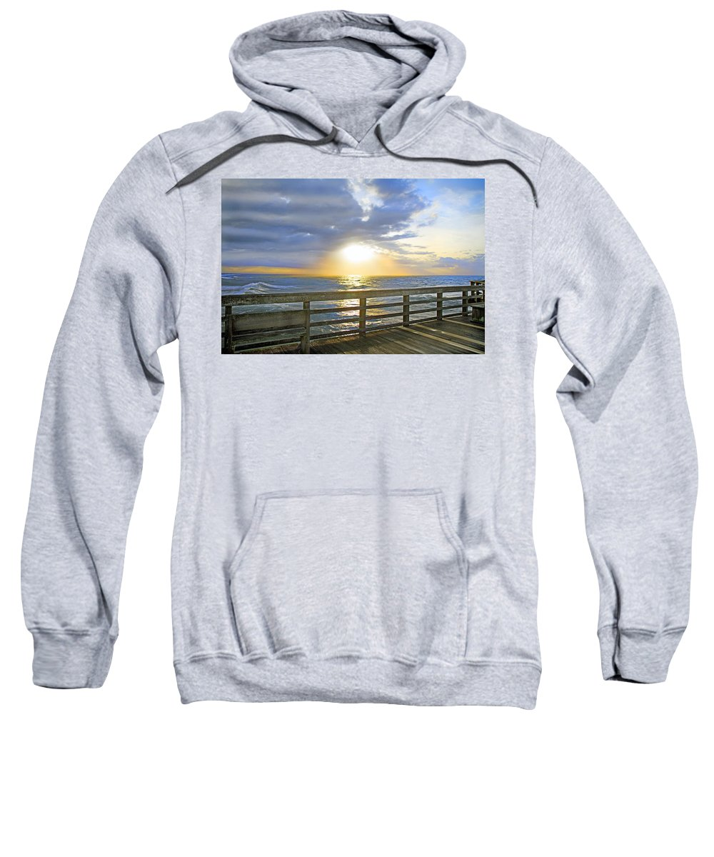 Topsail Sweatshirt featuring the photograph A Glorious Moment by Betsy Knapp