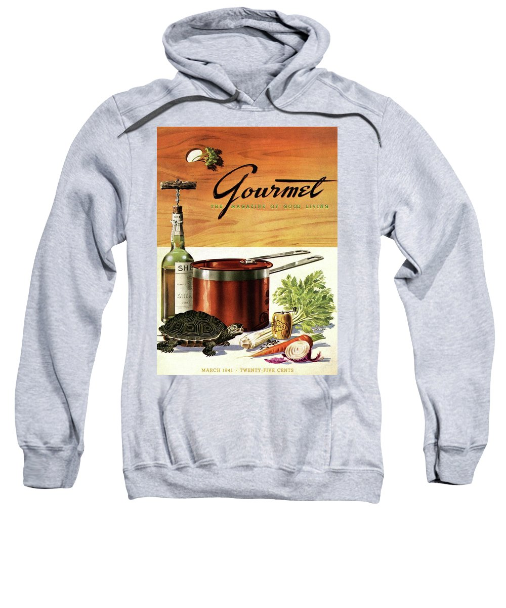 Illustration Sweatshirt featuring the photograph A Gourmet Cover Of Turtle Soup Ingredients by Henry Stahlhut