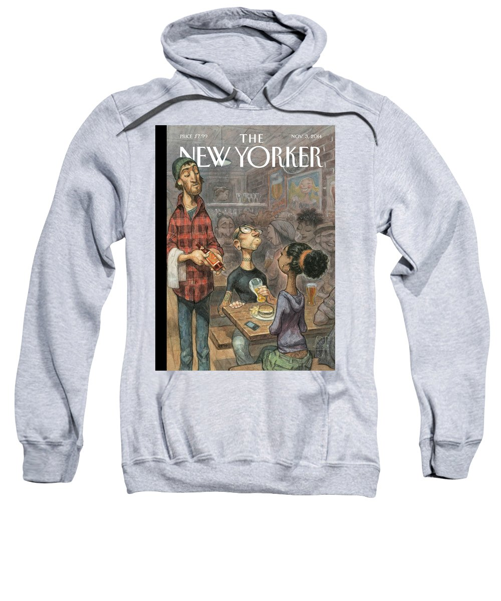 Elite Sweatshirt featuring the painting Hip Hops by Peter de Seve