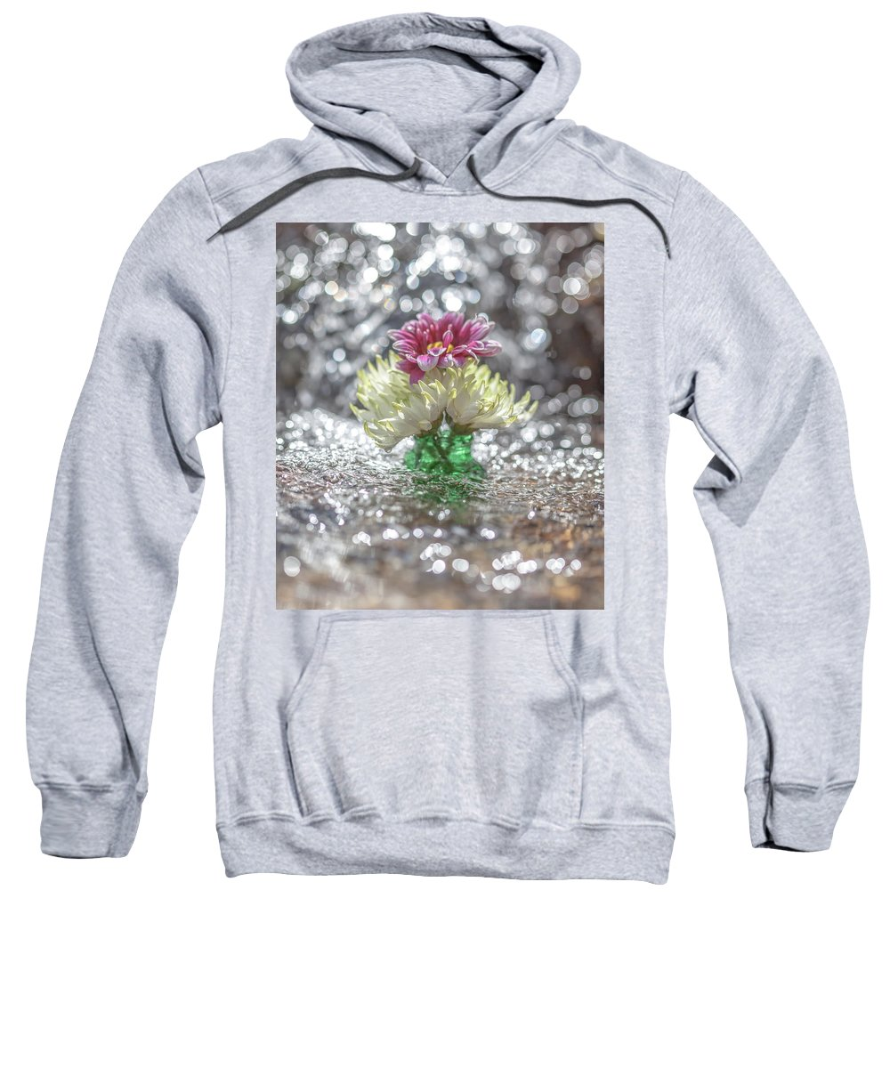 Bokeh Sweatshirt featuring the photograph A Light Shower by Aaron Aldrich