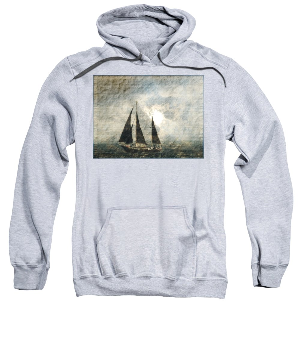 Sailing Sweatshirt featuring the photograph A Light Through The Storm - Sailing by Marie Jamieson