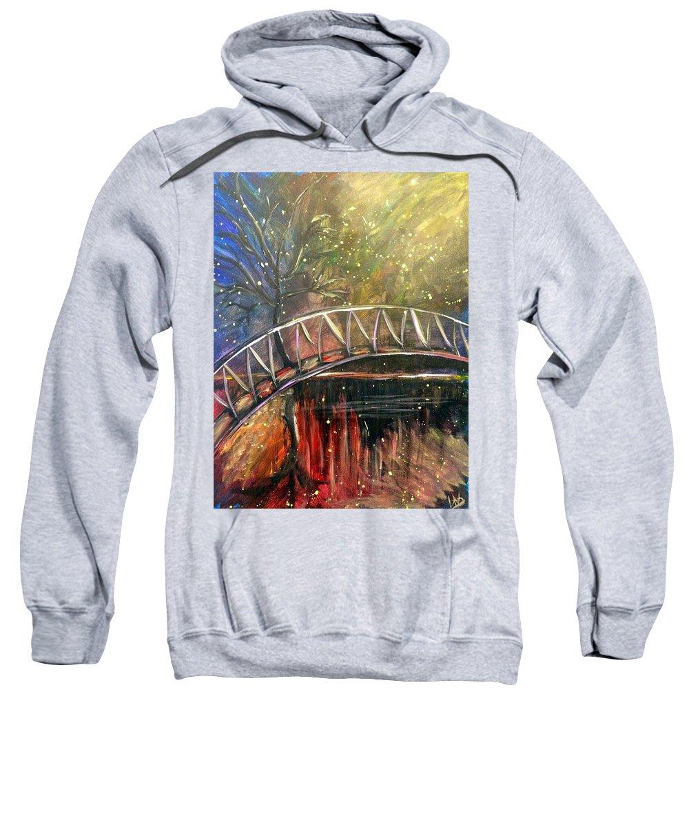 Nice Sweatshirt featuring the painting A Nice Little Getaway by Lisa Stanley
