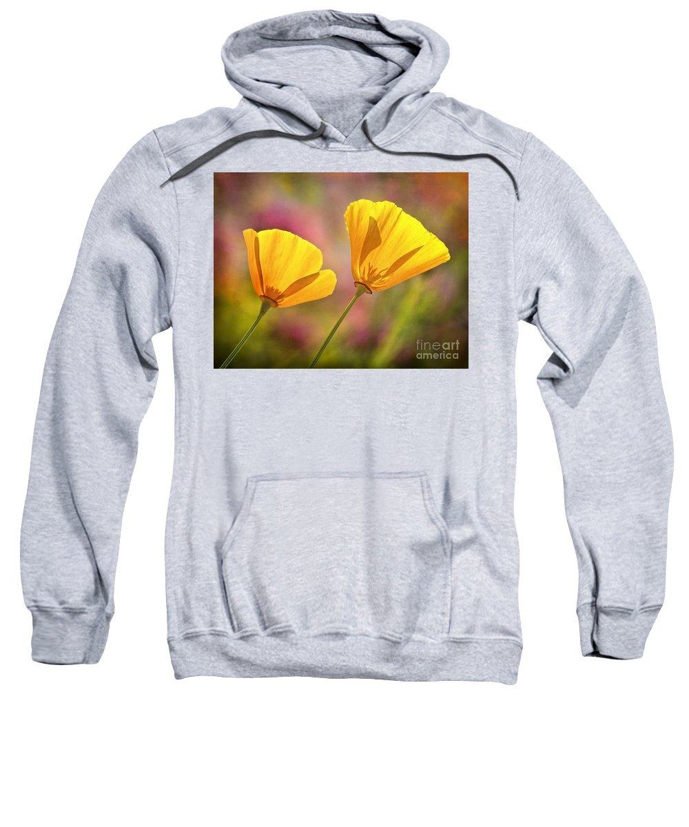 Flowers Sweatshirt featuring the photograph A Pair by Claudia Kuhn
