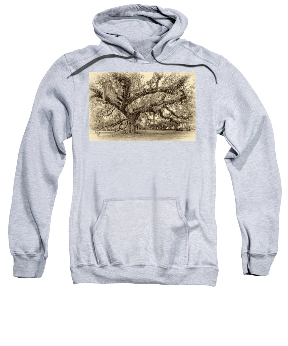 Nola Sweatshirt featuring the photograph A Place For Dying Sepia 2 by Steve Harrington