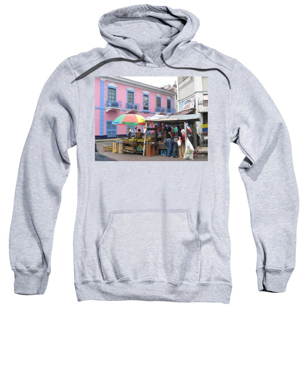 Panama Sweatshirt featuring the photograph A Pop Of Tropical Color by Jennifer E Doll