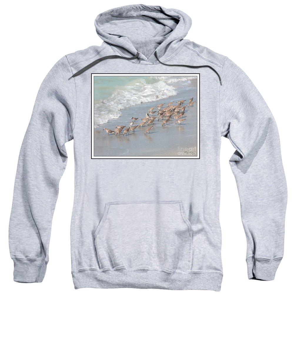 Fauna Sweatshirt featuring the photograph A Quick Bite by Mariarosa Rockefeller
