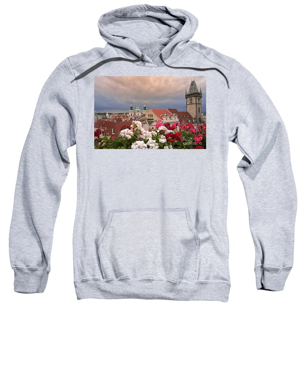Prague Sweatshirt featuring the photograph A Rainy Day In Prague 2 by Madeline Ellis
