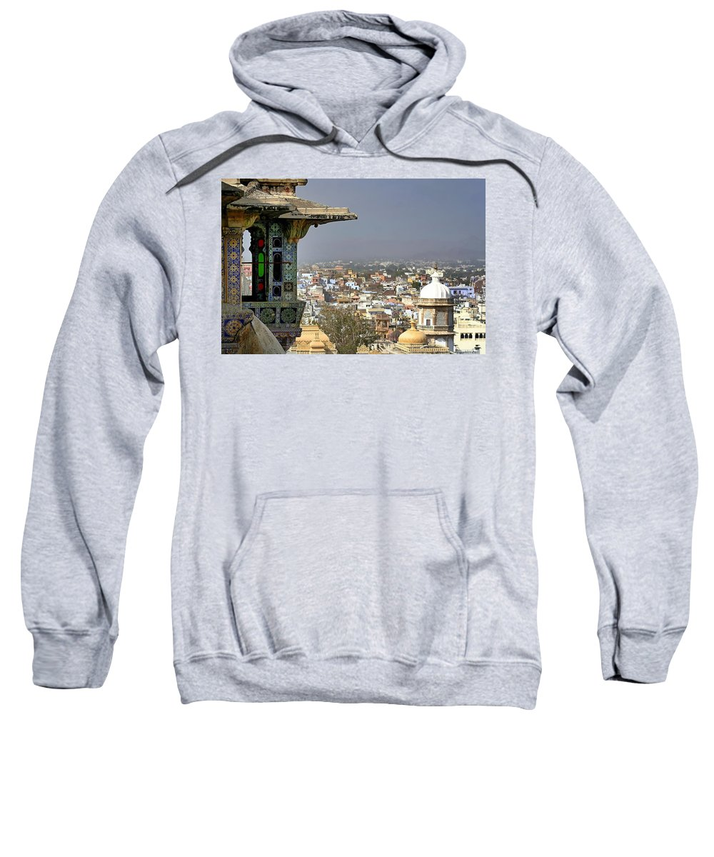 India Sweatshirt featuring the photograph A Room With A View.. by A Rey