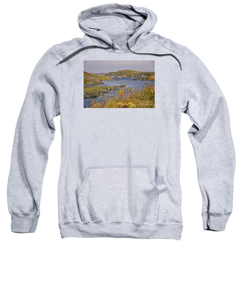 Newfoundland Sweatshirt featuring the photograph A Safe Harbor In Newfoundland by Timothy Flanigan