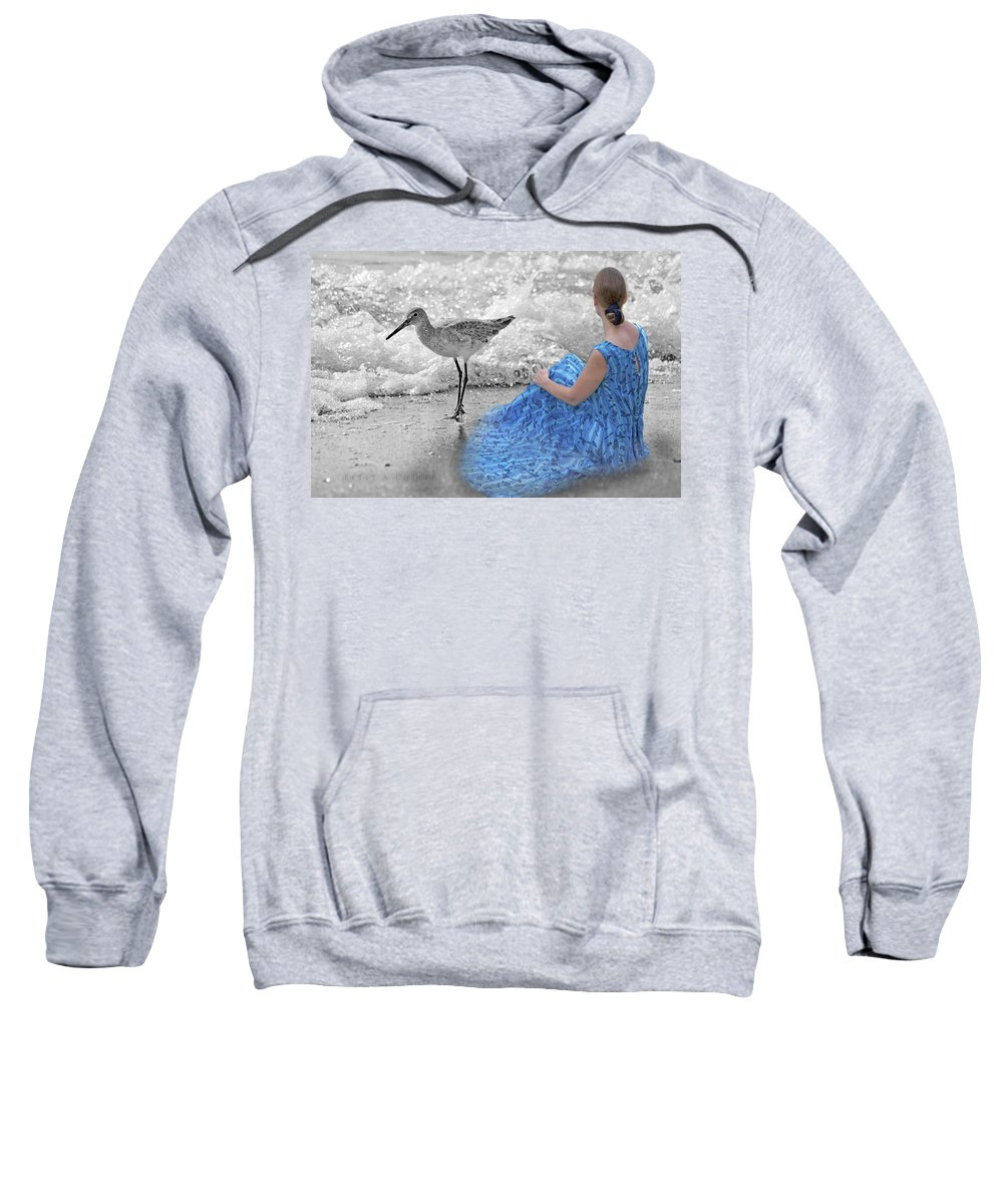 Sandpiper Sweatshirt featuring the photograph A Sandpiper's Dream by Betsy Knapp