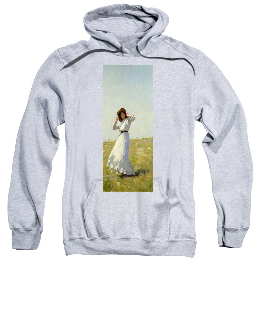 Woman Sweatshirt featuring the painting A Summe's Day by William Henry Margetson