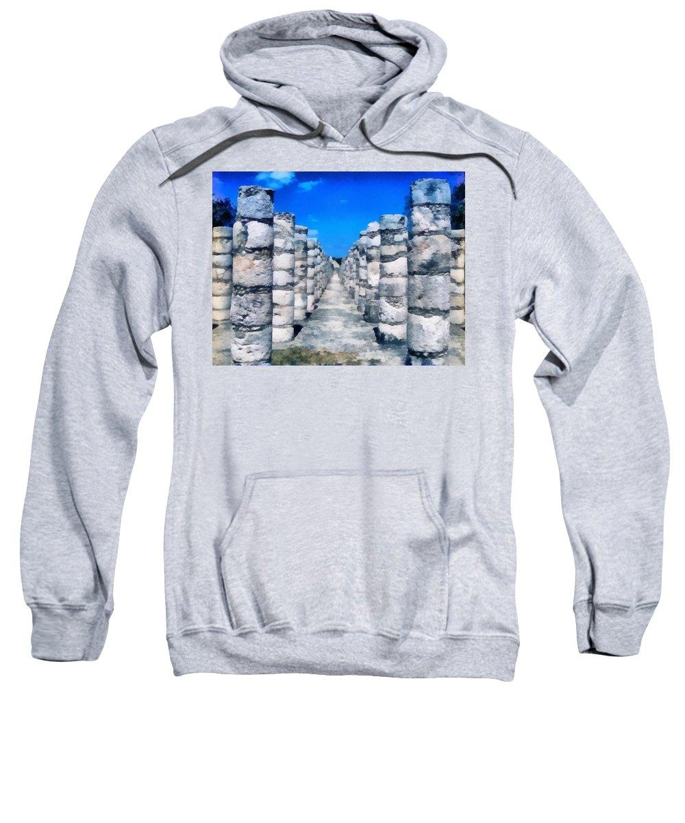 America Sweatshirt featuring the digital art A Thousand Columns by Roy Pedersen