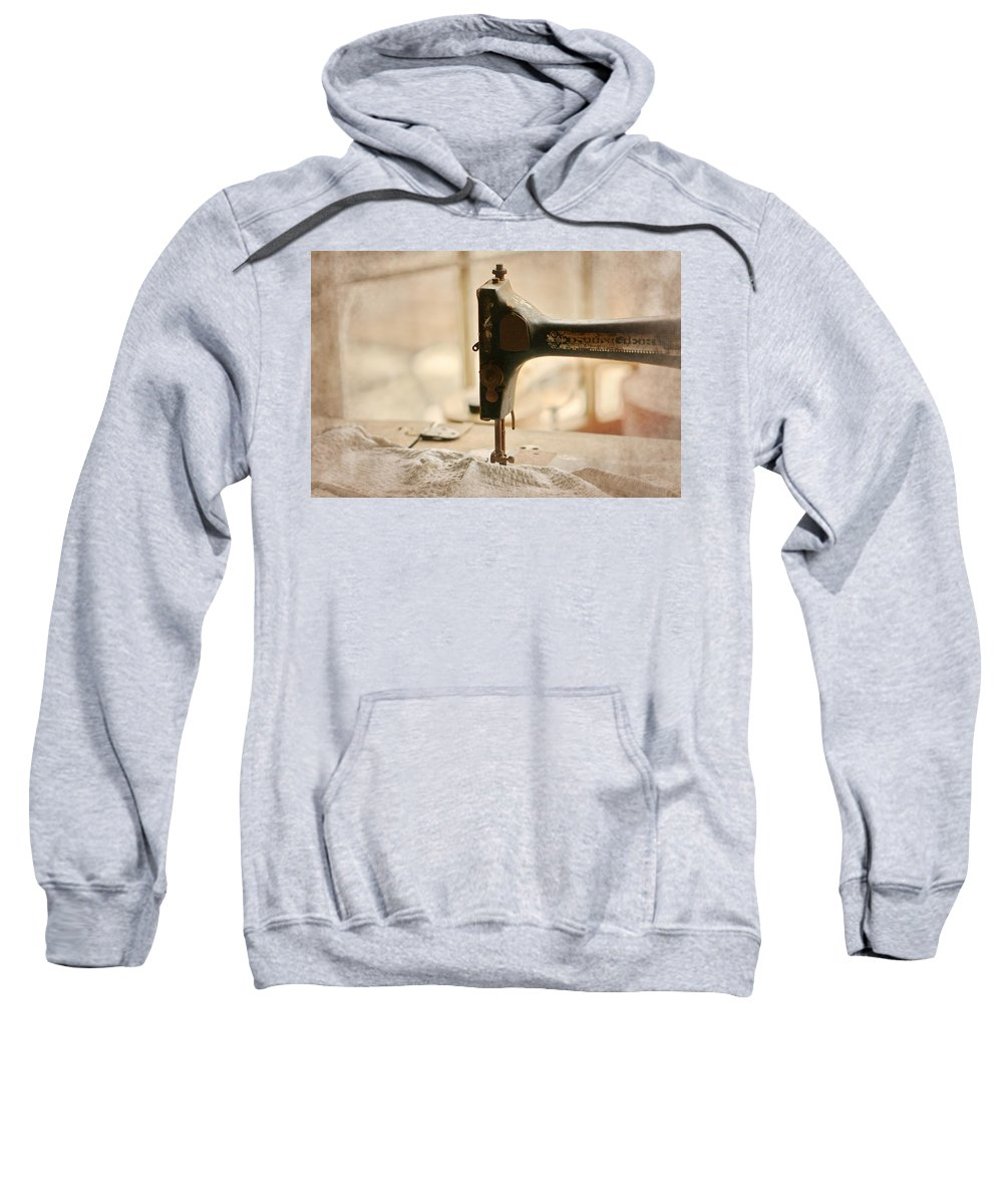 Sewing Machine Sweatshirt featuring the photograph A Womans Work by Terry Fleckney