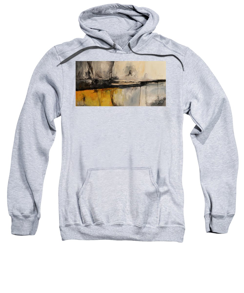 Abstract Sweatshirt featuring the painting Ab06us by Emerico Imre Toth