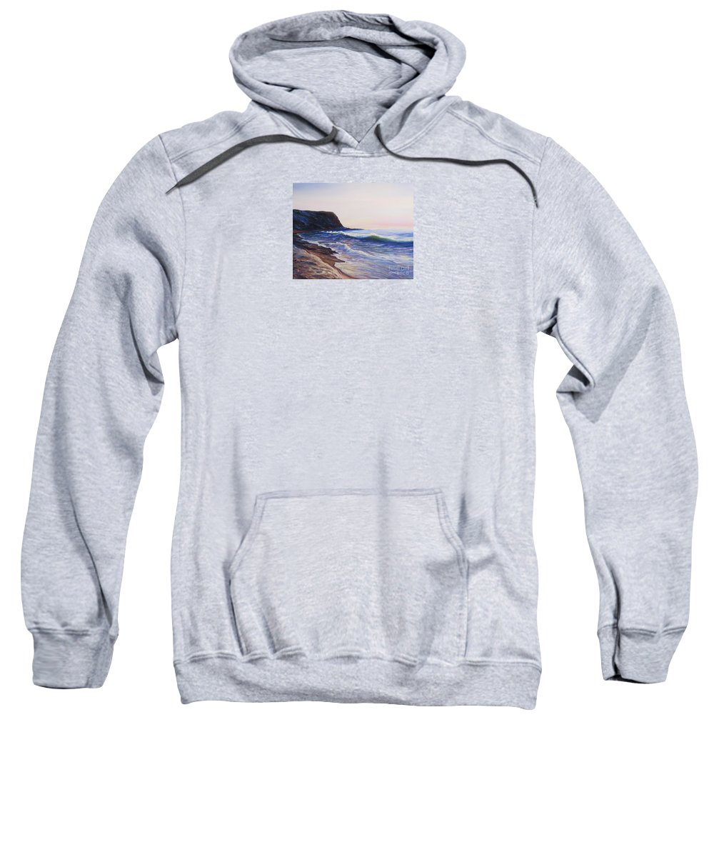 Abalone Cove Sweatshirt featuring the painting Abalone Cove by Frederick Luff