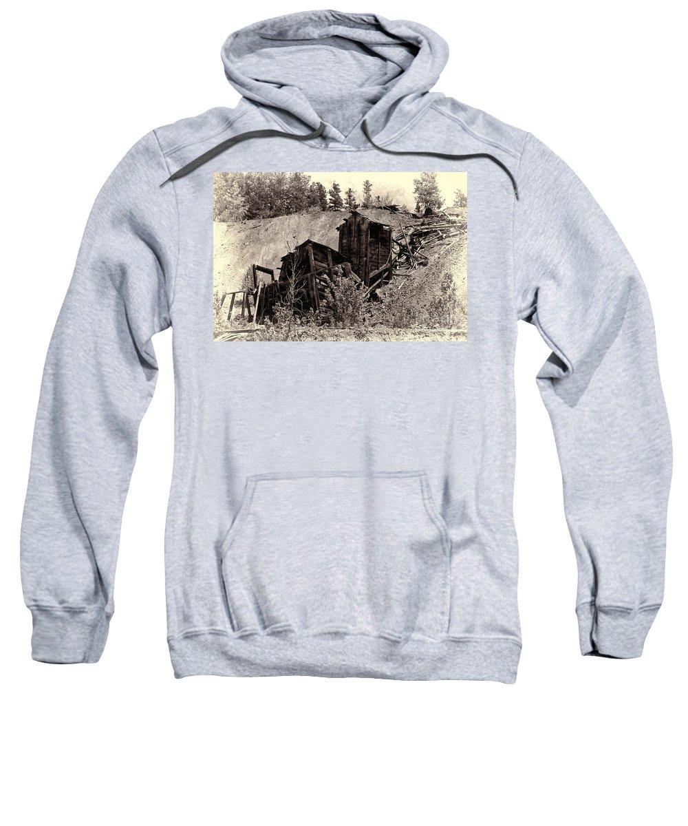 Abandon Mine Sweatshirt featuring the photograph Abandon Montana Mine by David Arment