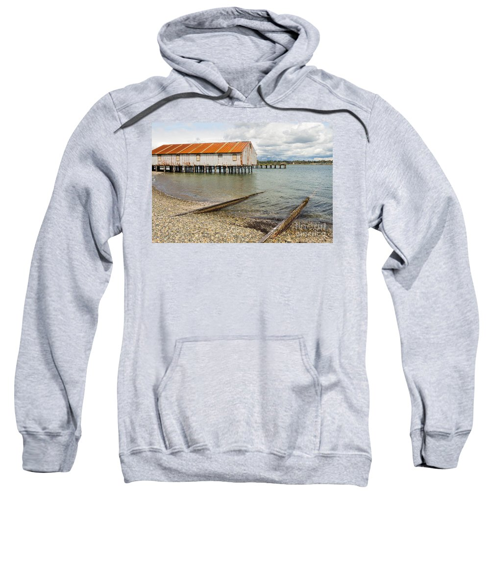 Cannery Sweatshirt featuring the photograph Abandoned Cannery by Brigitte Mueller