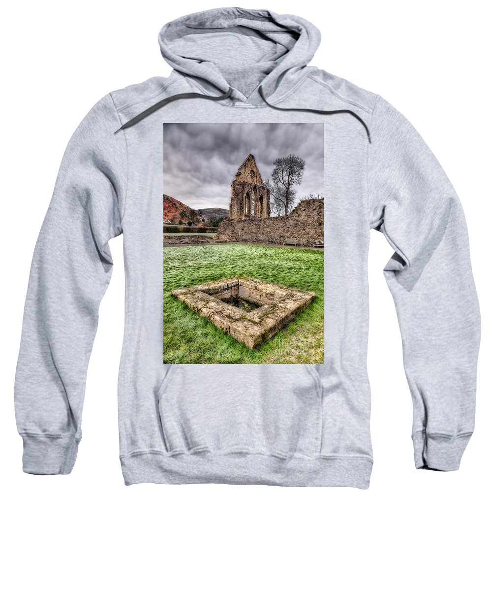 13th Century Sweatshirt featuring the photograph Abbey Well by Adrian Evans