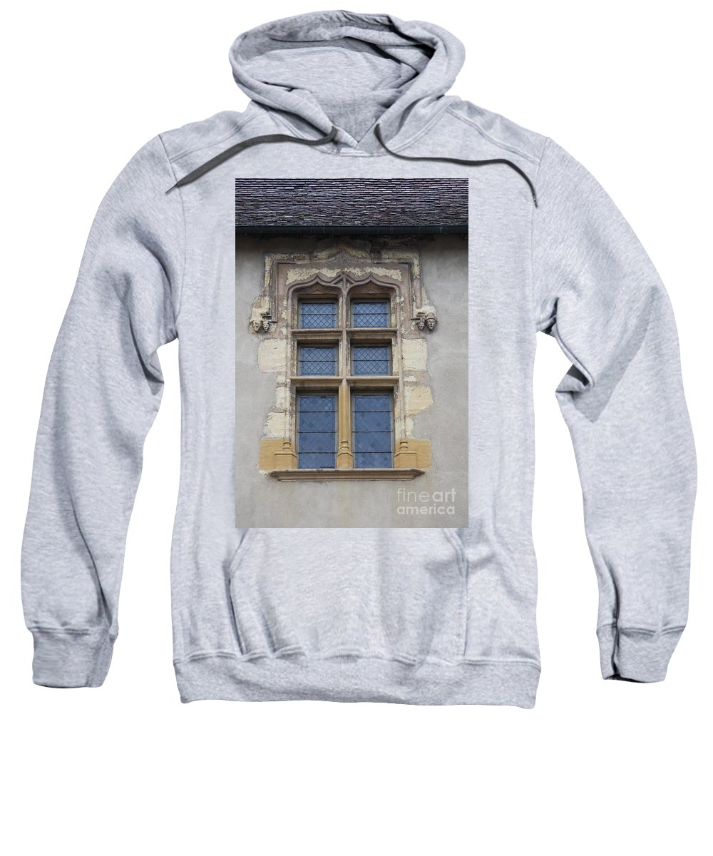 Palace Sweatshirt featuring the photograph Abbot Palace Window - Cluny - Burgundy by Christiane Schulze Art And Photography