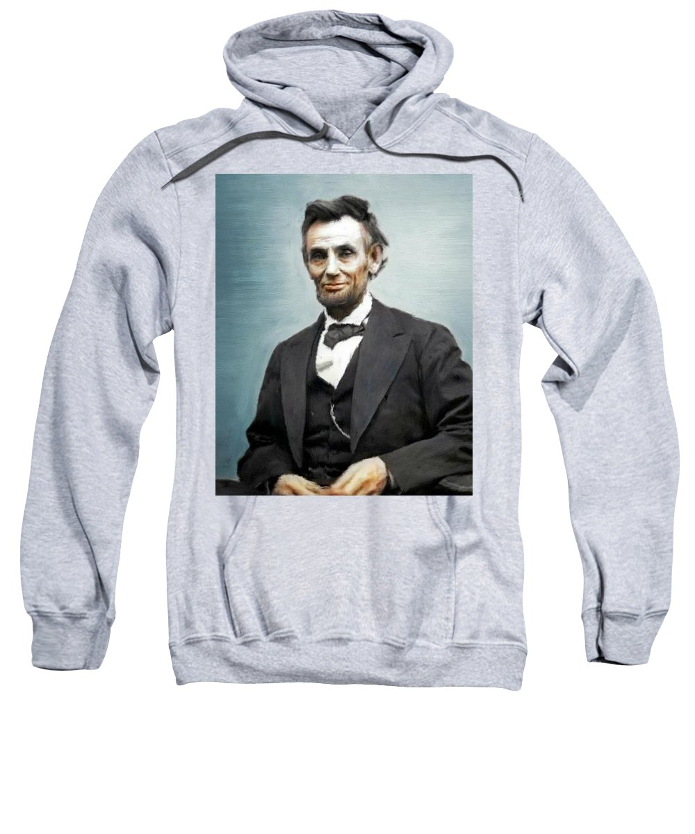 Abe Lincoln Sweatshirt featuring the painting Abe Lincoln by Bruce Nutting