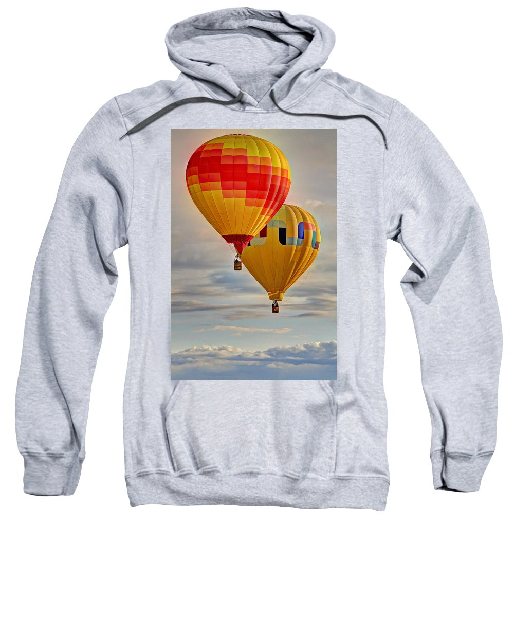 Balloon Sweatshirt featuring the photograph Above by Scott Mahon