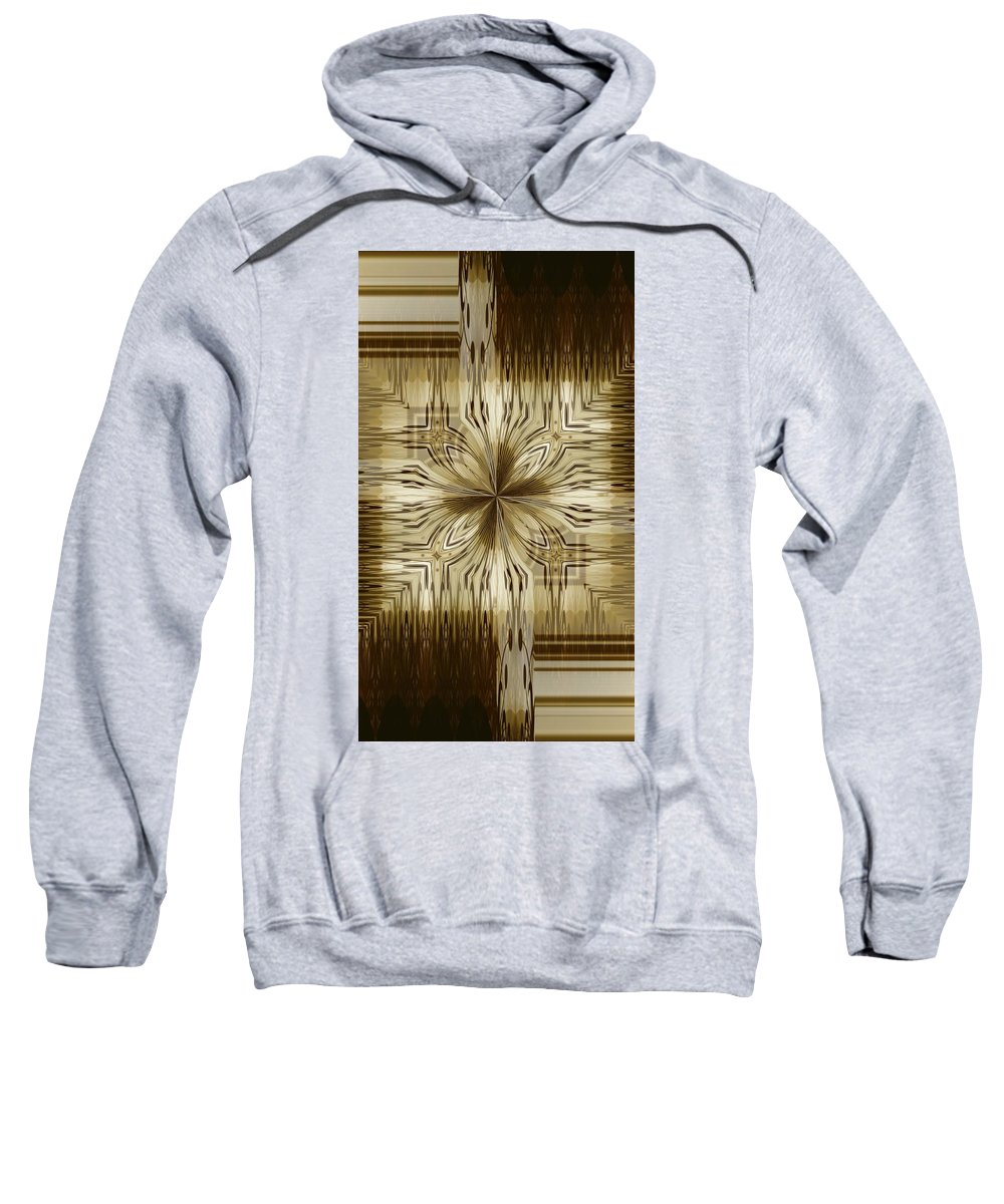 Abstract 15-02 Sweatshirt featuring the digital art Abstract 15-02 by Maria Urso