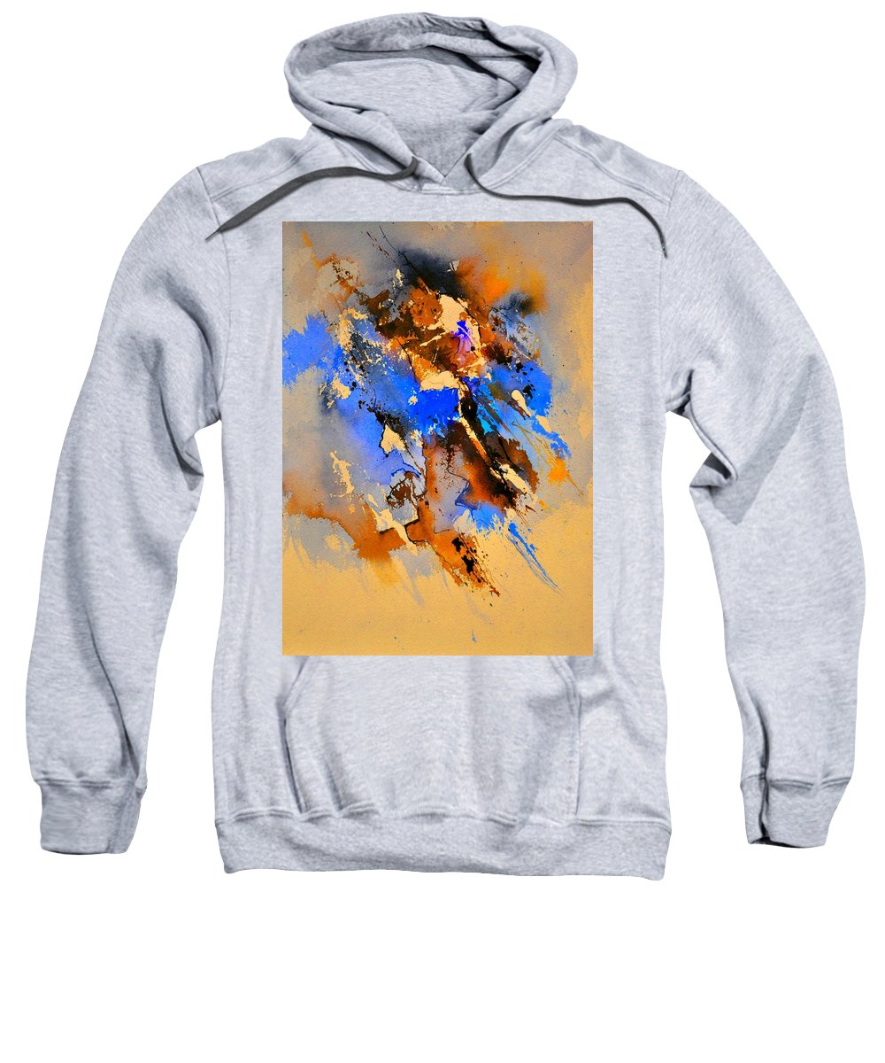 Abstract Sweatshirt featuring the painting Abstract 4110212 by Pol Ledent