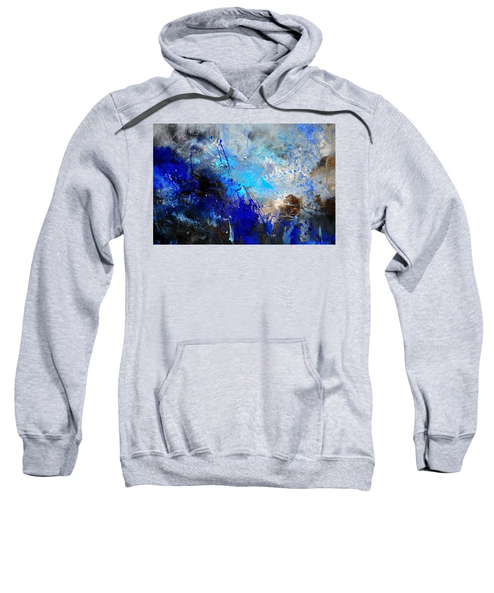 Abstract Sweatshirt featuring the painting Abstract 964180 by Pol Ledent