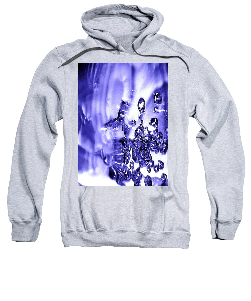 Abstract Sweatshirt featuring the photograph Abstract Bubble Study by Brian Raggatt